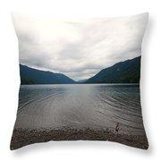 Lake Crescent Four Throw Pillow