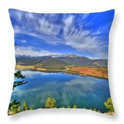 Lake Dillon Blue Throw Pillow