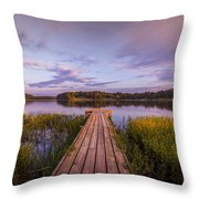Lake Dock Throw Pillow