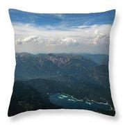 Lake Eibsee Throw Pillow