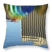 Lake Eola Reflections Throw Pillow