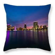 Lake Eola Sunset Throw Pillow