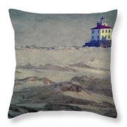 Lake Erie Lighthouse Throw Pillow