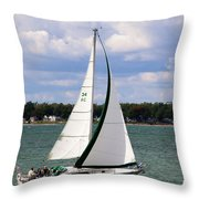 Lake Erie Sailing 8092 Throw Pillow