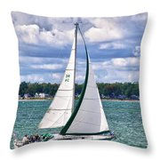 Lake Erie Sailing 8092h Throw Pillow
