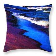 Lake Erie Shore Abstract Throw Pillow