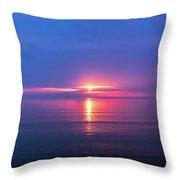Lake Erie Sunrise Throw Pillow