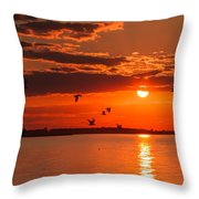 Lake Erie Sunset 7999 Throw Pillow