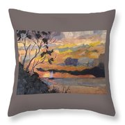 Lake Erie Sunset Throw Pillow