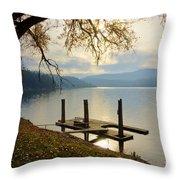 Lake Escape Throw Pillow