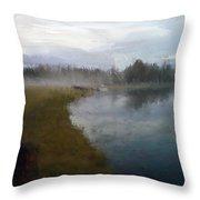 Lake Eufaula Throw Pillow