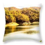 Lake Fantana In The Mountans Throw Pillow