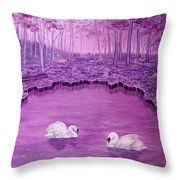 Lake Fantasy Throw Pillow