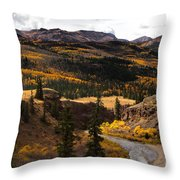 Lake Fork Of The Gunnison Throw Pillow