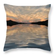 Lake Front Sunset Throw Pillow