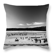 Lake Fun 5 Throw Pillow