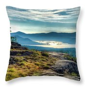 Lake George From Cat Mountain 1 Throw Pillow