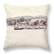Lake George Village Throw Pillow