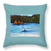 Lake Glenville  Sold Throw Pillow