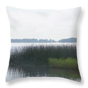 Lake Grasses Throw Pillow