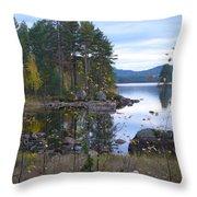Lake Gustav Adolf Sweden Throw Pillow