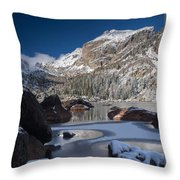 Lake Haiyaha  Throw Pillow