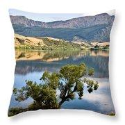 Lake Hayes New Zealand Throw Pillow