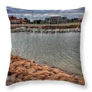 Lake Hefner Dock Throw Pillow