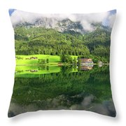 Lake Hintersee Throw Pillow