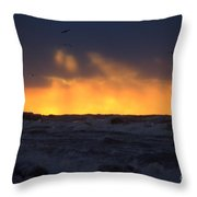 Lake Huron Arctic Blast 2 Throw Pillow