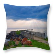 Lake Huron Michigan Throw Pillow