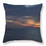 Lake Huron Sheen Throw Pillow