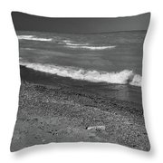 Lake Huron Windy Day 4 Bw Throw Pillow