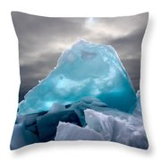 Lake Ice Berg Throw Pillow