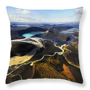 Lake In An Old Volcanic Crater Or Throw Pillow