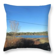 Lake In Lakeside Throw Pillow