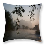 Lake In Mountain Area Throw Pillow by Keith Levit