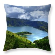 Lake In The Azores Throw Pillow