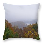 Lake In The Distance Throw Pillow