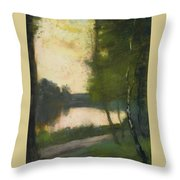 Lake In The Evening Throw Pillow