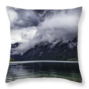 Lake In The Julian Alps Slovenia 1  Throw Pillow
