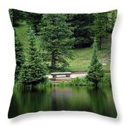 Lake Irene Dressed In Green Throw Pillow