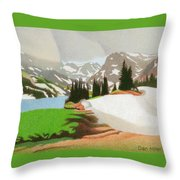 Lake Isabelle Storm Throw Pillow