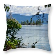 Lake Islet Throw Pillow