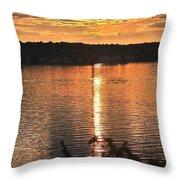 Lake James Throw Pillow