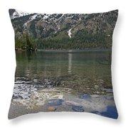 Lake Jenny Grand Tetons Throw Pillow