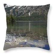 Lake Jenny Grand Tetons Throw Pillow