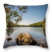 Lake Kanawauke Throw Pillow