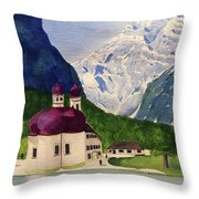 Lake Konigssee Throw Pillow