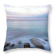Lake La Jolla Pano Throw Pillow